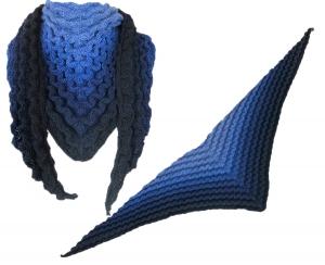 Strickanleitung Dreickstuch im Wellenmuster