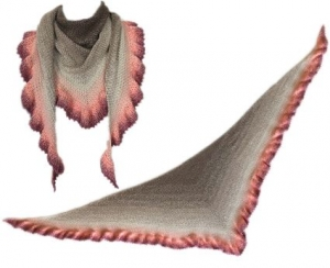 Häkelanleitung Dreieckstuch Vintage (Moss stitch)